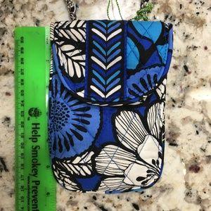 Vera Bradley Cellphone Crossbody Blue Bayou